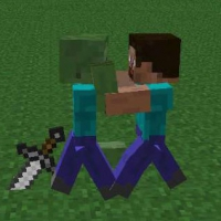 Бумажные Стив и Зомби из Майнкрафта / Minecraft Steve and Zombie