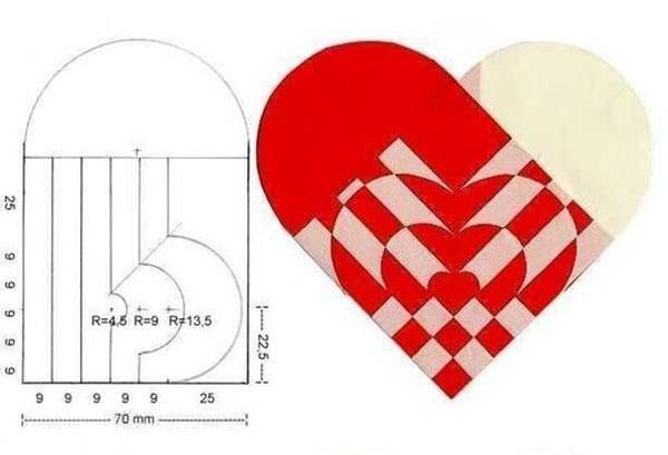 Как сделать сердце валентинку из бумаги